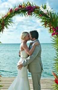 decoração de casamento na praia