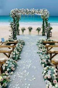 decoração de casamento na praia (Foto Divulgação)