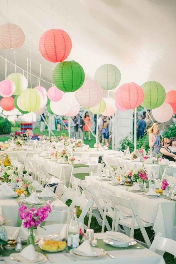 decoração de casamento simples chacara
