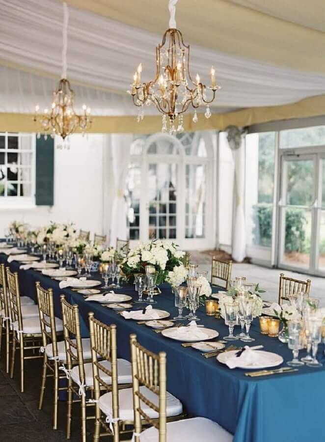 Ideias de Decoração de Casamento cor azul pode transmitir uma sensação de paz, tranquilidade, por isso é uma das cores preferidas de muitas pessoas, por isso que muitos casais escolhe a op