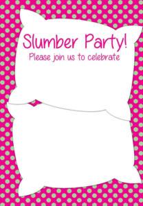 Convite para festa do pijama